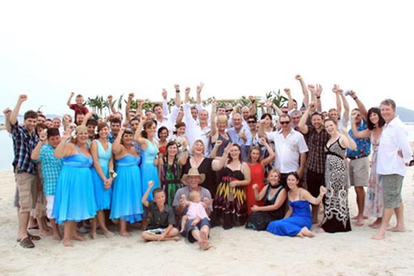 Great day and Beach Wedding party at a villa