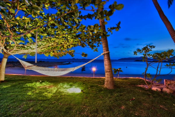 Samui evening scenes villa beachside