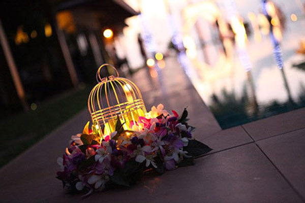 Wedding design elements in a Thailand villa