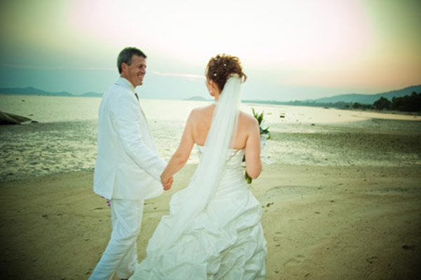Wedding with Sunset beach on Koh Samui