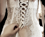 We are dedicated to help the bride create her dream wedding dress.