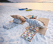 Have a lovely beach picnic and enjoy your quality time with no one else but the two of you.