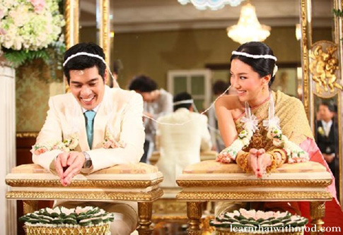 Traditional Thai-style wedding ceremony