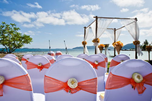 Phuket Wedding decorations in private villas
