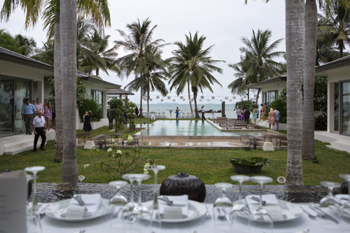 Private villa set up for wedding